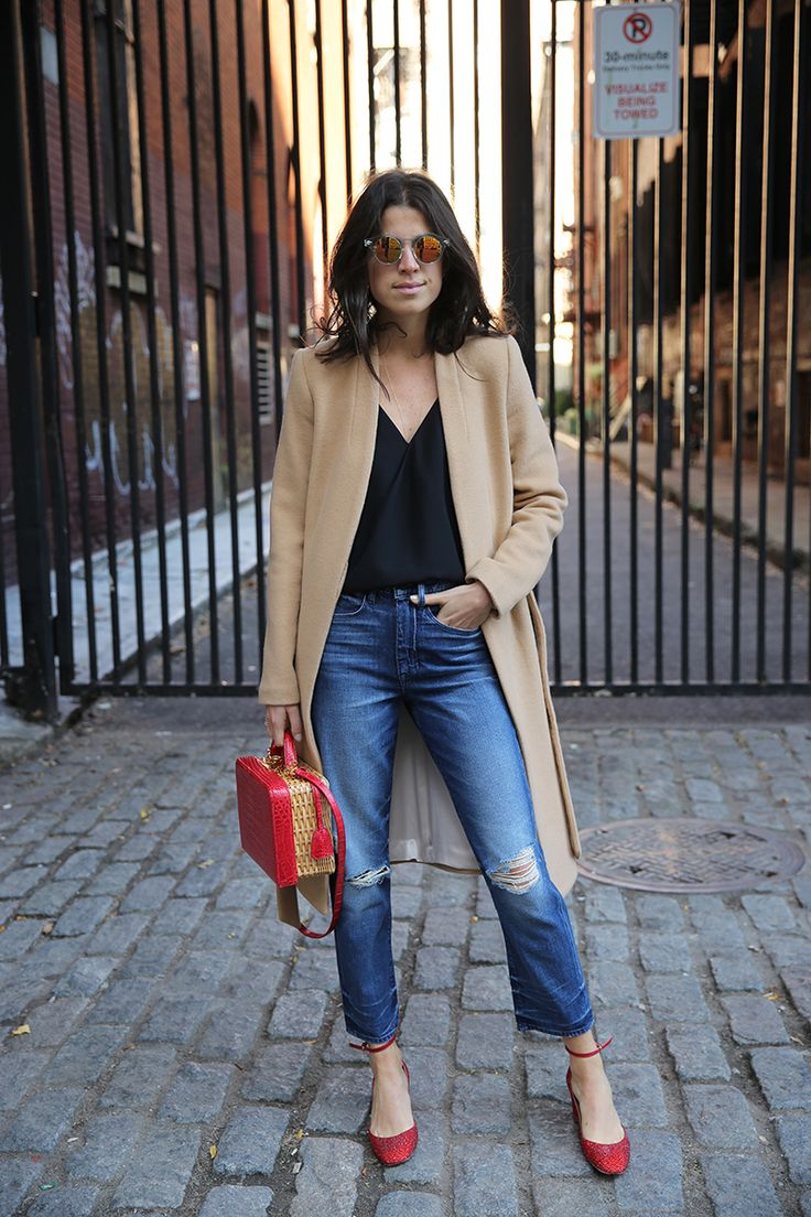 camel & red. Leandra in NYC. #LeandraMedine #ManRepeller