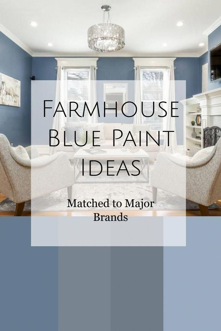 Farmhouse Blue Paint Ideas I Love This Elegant Blue Wall Colors In This Classy Country Living R Blue Living Room Color Blue Living Room Farm House Living Room