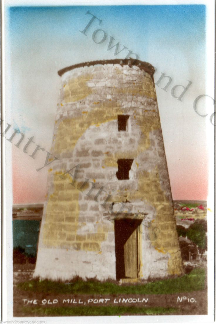 PORT LINCOLN, SOUTH AUSTRALIA. THE OLD MILL. 1940's TOURISM MEMENTO CARD | eBay