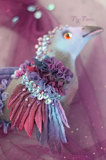 "Handmade brooches. Fair Masters - handmade brooch Tsitsinnarus Evening (from the series ""Birds of Paradise""). Handmade."