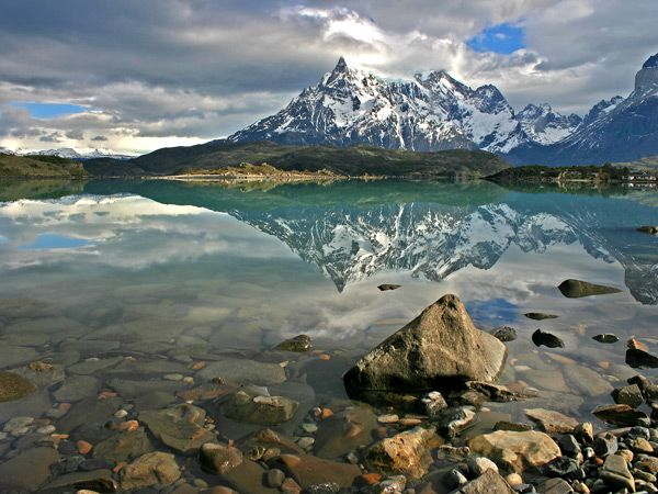 Patagonia.  unspoiled wilderness in Argentina & Chile.  what the Pacific Northwest or Alaska must have looked like years ago.