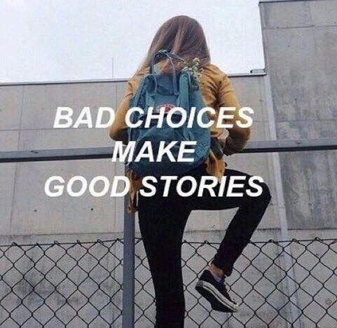 good story, bad choice, paper town, memories