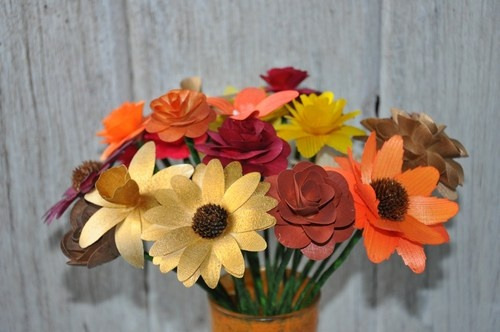 Fall Autumn Flowers with Stems