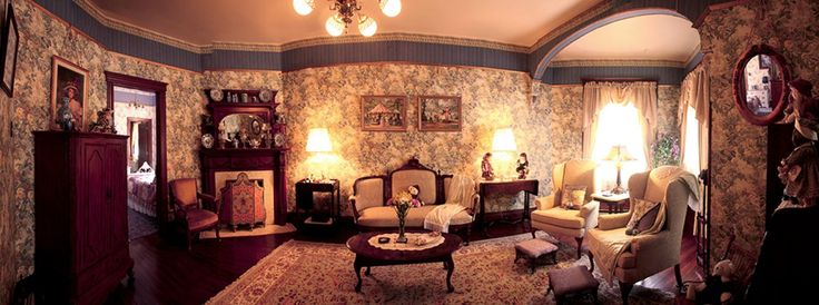 Panorama victorian style interior old interiors for Parlor or living room