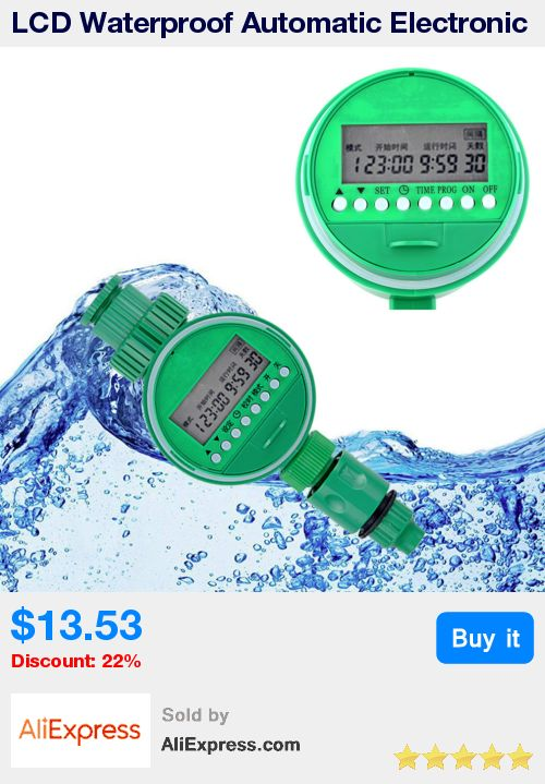LCD Waterproof Automatic Electronic Water Timer Garden Irrigation Controller Digital Intelligence Watering System  * Pub Date: 17:16 Jul 5 2017