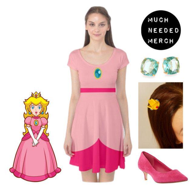 """Princess Peach Dress Outfit"" by muchneededmerch on Polyvore"