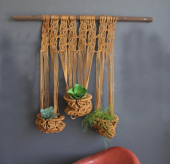 Amazing Large Macrame Plant Holder / Green от GallivantingGirls, $255.00