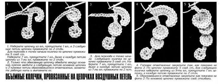Объемные кольца на шнурочке...