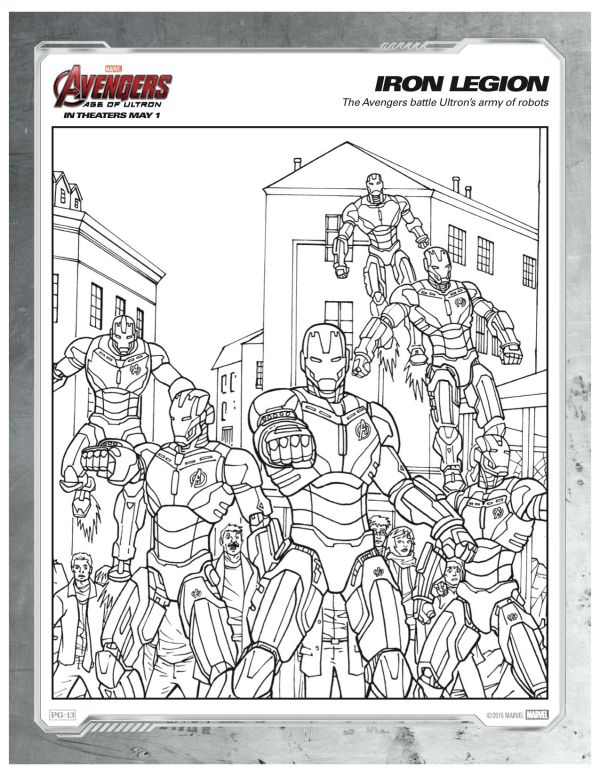 Marvel Avengers Iron Legion Coloring Page Disney