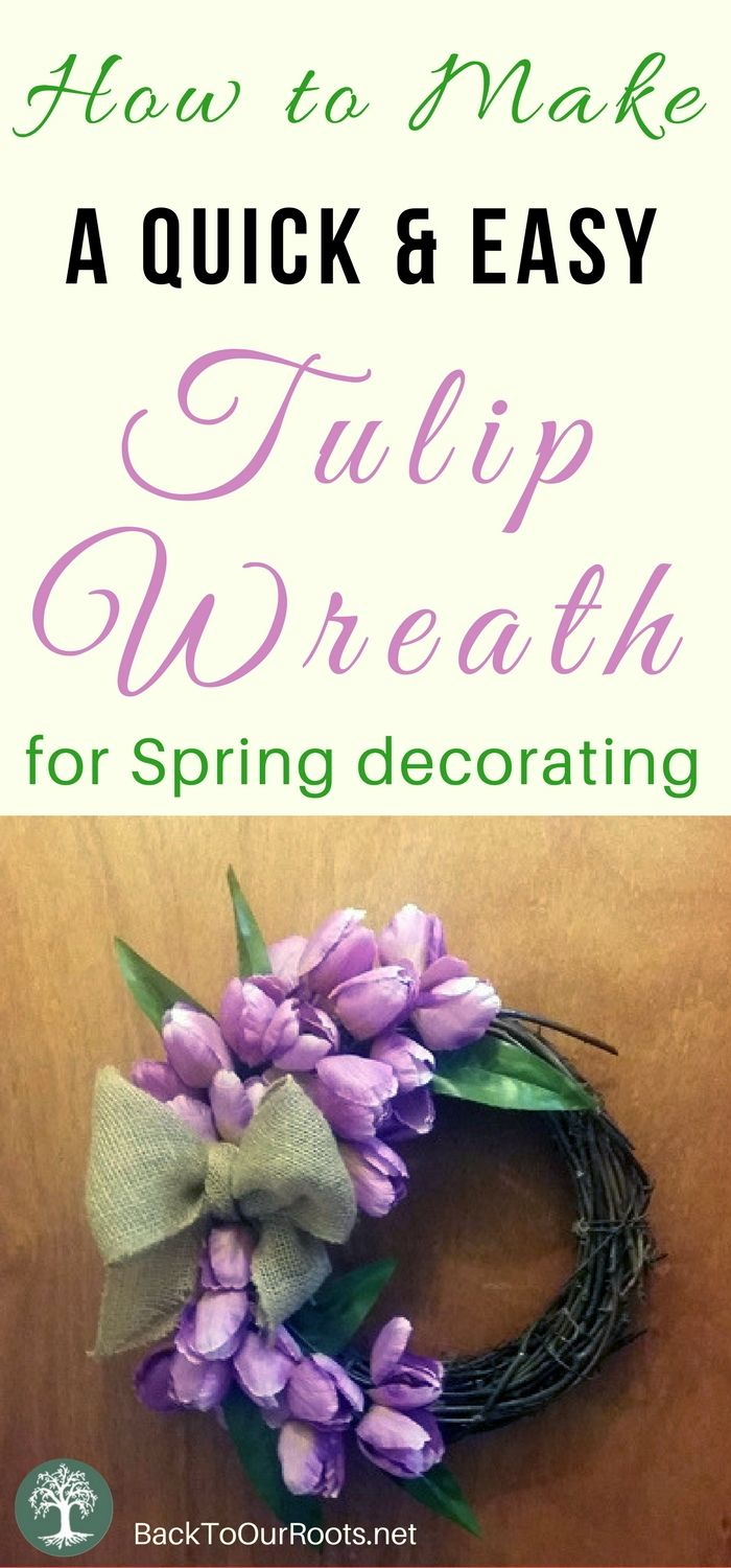 How to Make a Quick & Easy Tulip Wreath for Spring Decorating