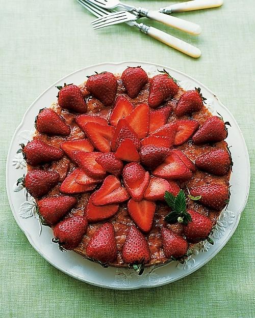 Sounds yum & it's GF!!!  Almond Macaroon Galette with Strawberries - Martha Stewart Recipes