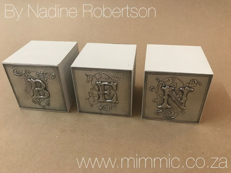 Nadine from our wedensday class made these lovely cubes. All pewter supplies available at www.mimmic.co.za