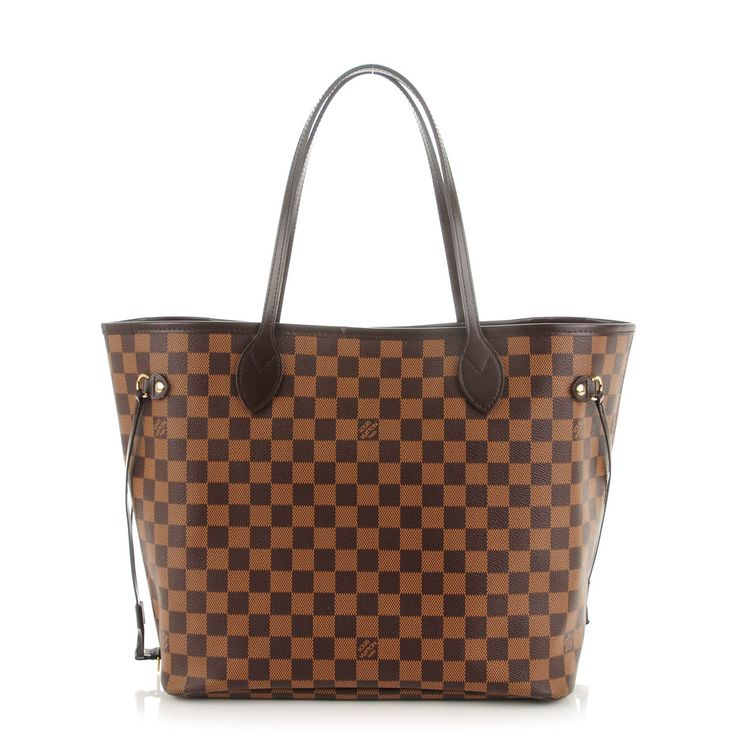 This is an authentic LOUIS VUITTON Damier Ebene Neo Neverfull MM. This chic handbag is crafted of classic Louis Vuitton damier checkered canvas with dark brown cowhide leather top shoulder straps and trim. This bag opens to an interior of rouge red striped Louis Vuitton logo fabric with a hanging zipper pocket. This is a wonderful tote that is ideal for all of your everyday needs with the special accent of luxury and style, from Louis Vuitton!