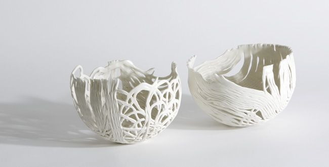 did you ever do that craft project of making a bowl out of glue-soaked string? this is better than that.
