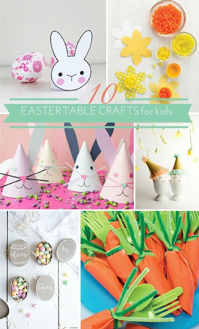 Adorable Easter table crafts for kids!