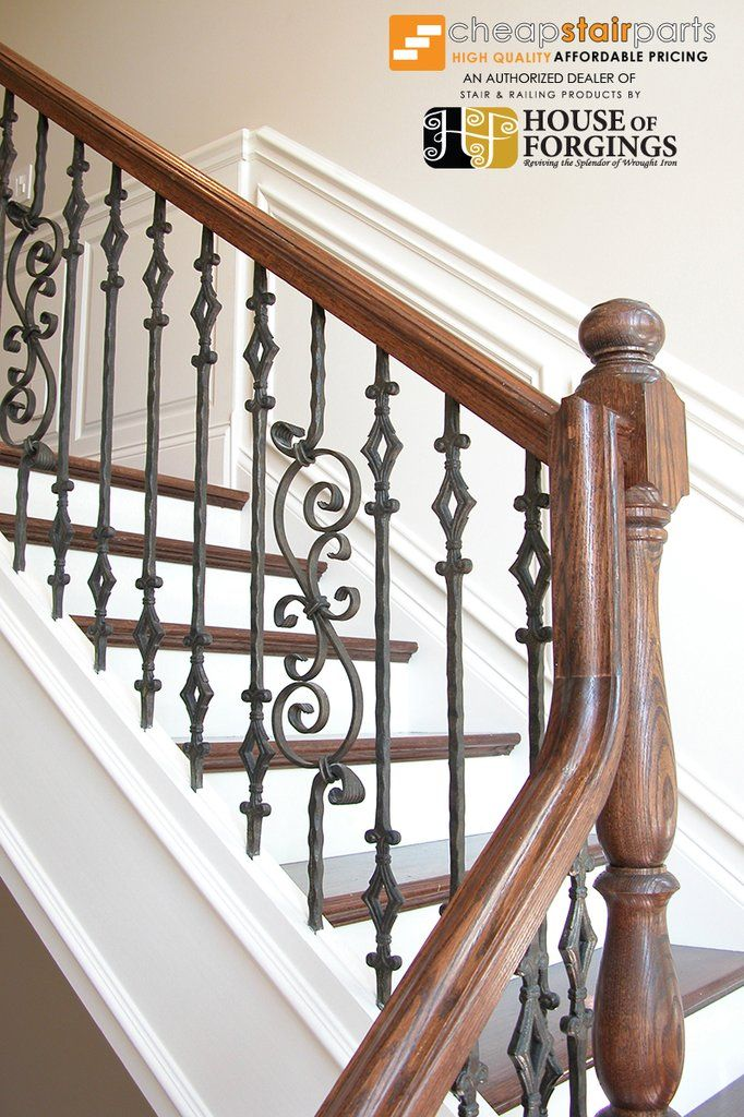 Staircase Gallery Photos And Inspiration Cheap Stair Parts Wrought Iron Stair Railing Wrought Iron Stairs Stair Remodel