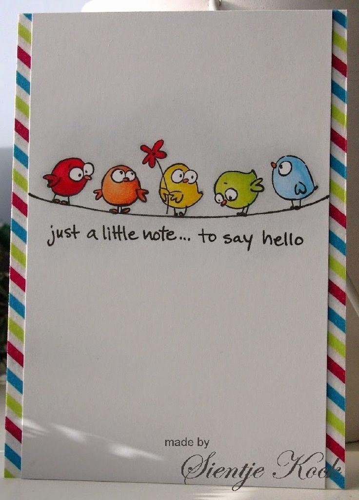 """Text zum Beispiel:"""" Die Vögel pfeigfen es schon v…"""