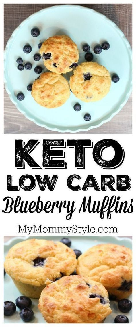 Keto Low Carb Blueberry Muffins III - delicious blueberry muffins for a healthy morning or snack. #lowcarbrecipe #ketogenic