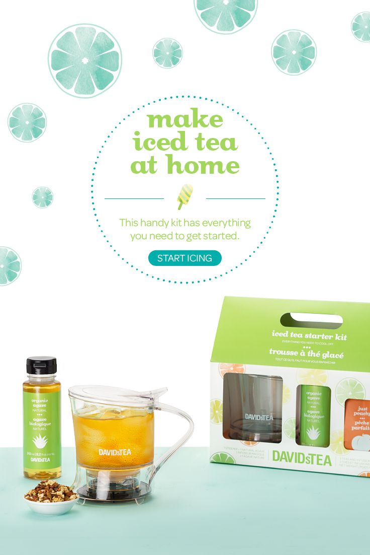 Everything you need to make iced tea at home, in one convenient box.