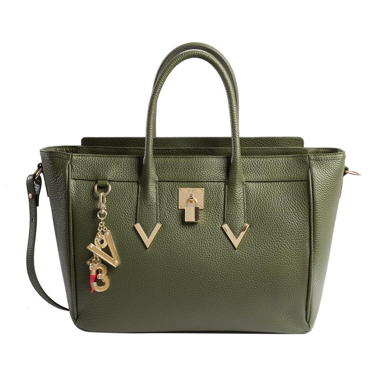 #V73 Elisir Maison Green Gable Leather Bag whit zip closure, Charms shown in photo included, Metal feet at the base 50 x 27 x 18 Shop now: http://www.v73.it/en/pelli-pregiate/elisir-maison