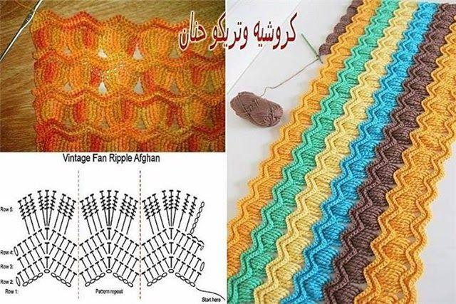 Patrones Crochet: Popurri Puntos Diferentes para Tejer