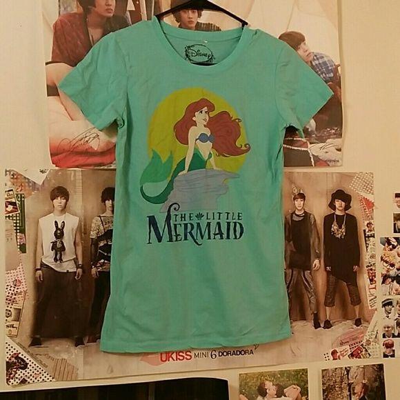Disney's The Little Mermaid Shirt Graphic Tee with The Little Mermaid Graphic. Super Cute. Disney Tops Tees - Short Sleeve