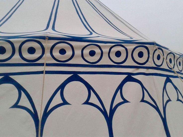 double pavilion,painted, mady by Vinedi archery workshop