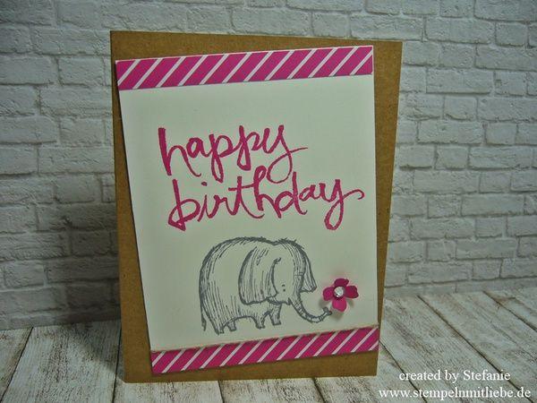 Stampin Up - Geburtstagskarte -Birthday Card - Grusskarte - Stempelset…