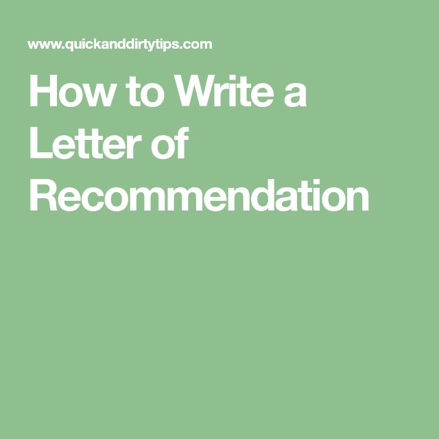 The 25+ best Writing letter of recommendation ideas on Pinterest - reference letter for immigration writing steps