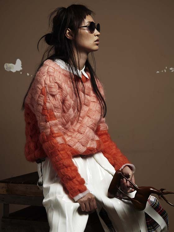 knit • hiukwan chung in wenda harmsen / november 2013 / nicky onderwater for glamcult