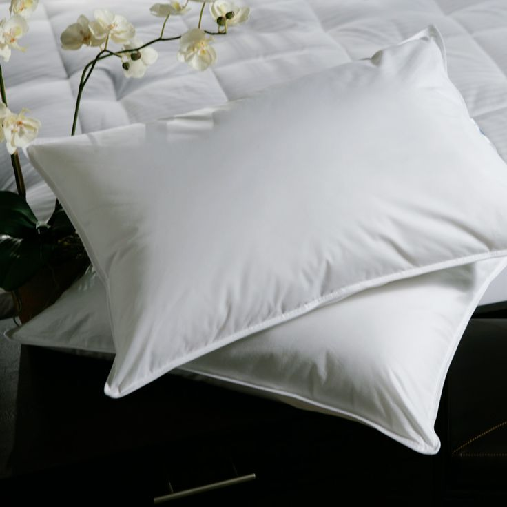 White Plush-top Medium-density Goose Feather Pillows (Set of 2) | Overstock.com Shopping - The Best Deals on Down Pillows