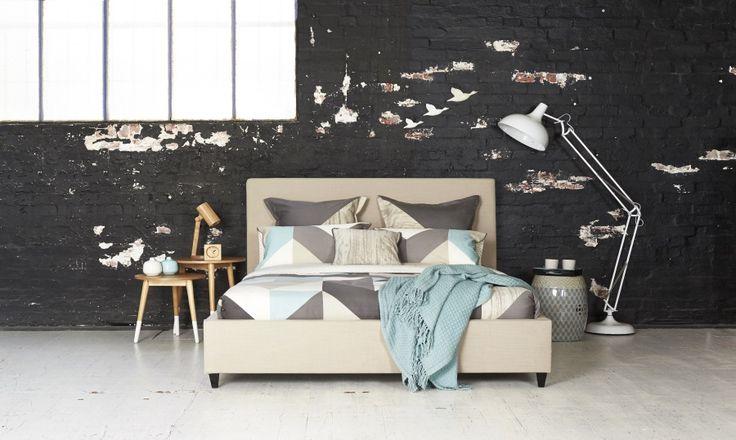 Chantal King Size Upholstered Bed | Bedshed