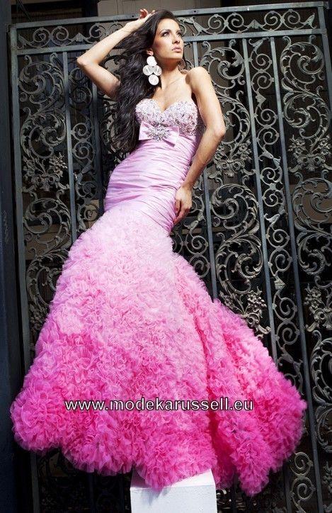 Meerjungfrauen Abendkleid Online in Rosa