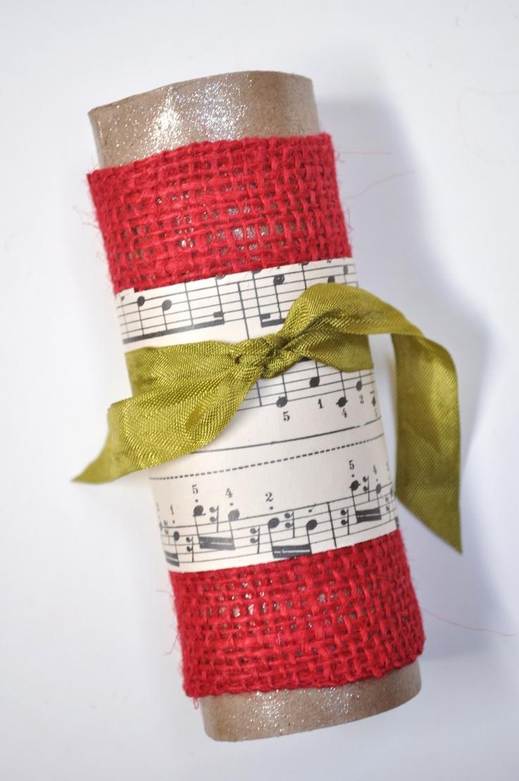 music sheet napkin ring Christmas 218