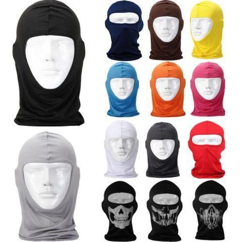 Full Face Mask lycra Balaclava Ultra-thin Motorcycle Cycling Ski Neck Protecting