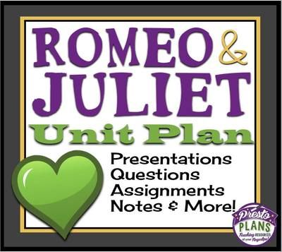 "unit test romeo and juliet This is a bundle for the short story ""charles"" by shirley jackson included in this  short story bundle are: two different sets of questions (good for different levels."