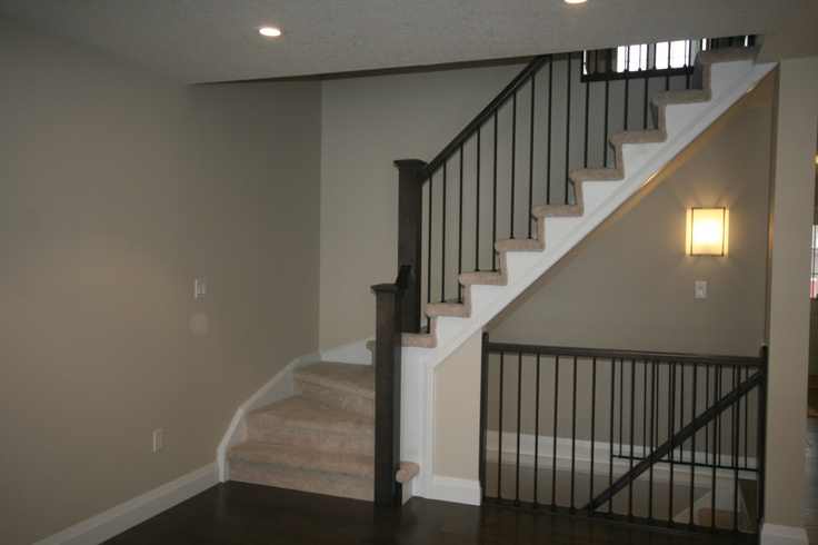 Stairs to basement opened up stairs pinterest the o - Ideas for basement stairs ...