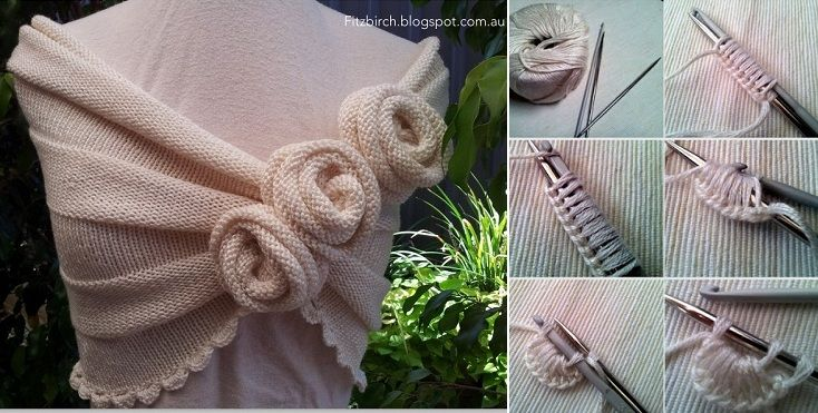 Knitting - Summer Rose Capelet