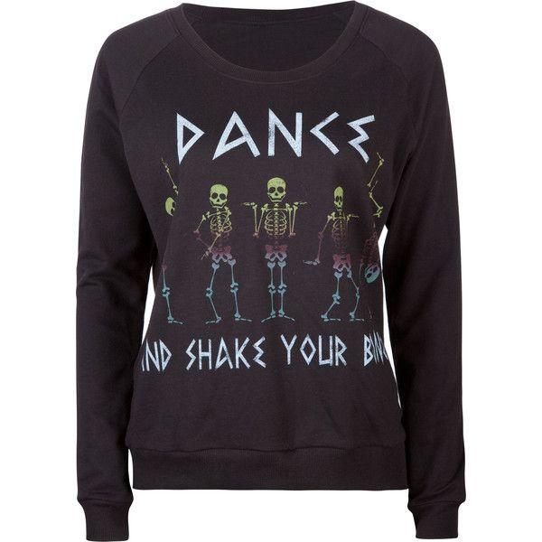 FULL TILT Shake Your Bones Womens Sweatshirt ($25) ❤ liked on Polyvore