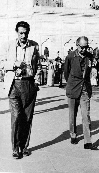 Satyajit Ray with Akira Kurosawa. Nerdboyfriend.tumblr.com