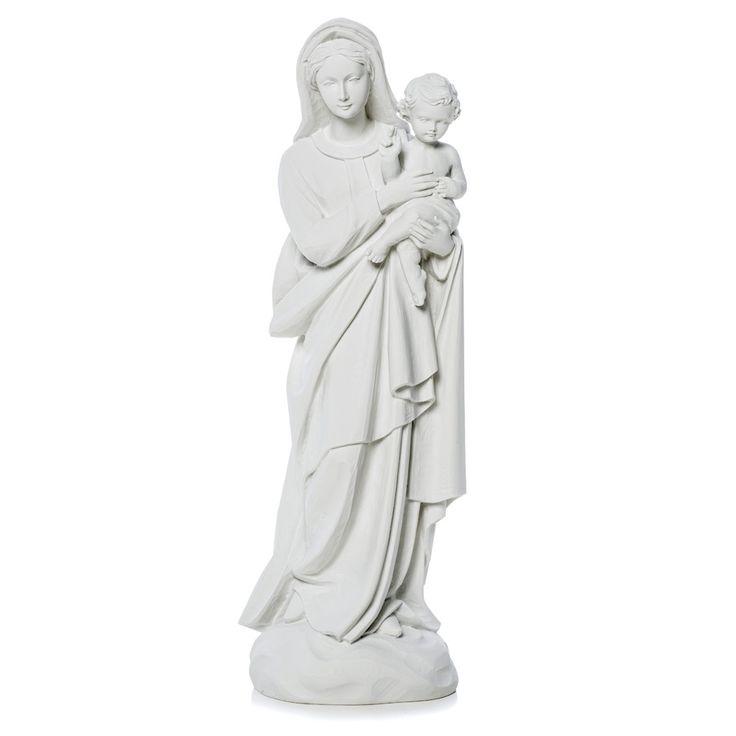 Virgen con el niño de 60cm mármol sintético | venta online en HOLYART