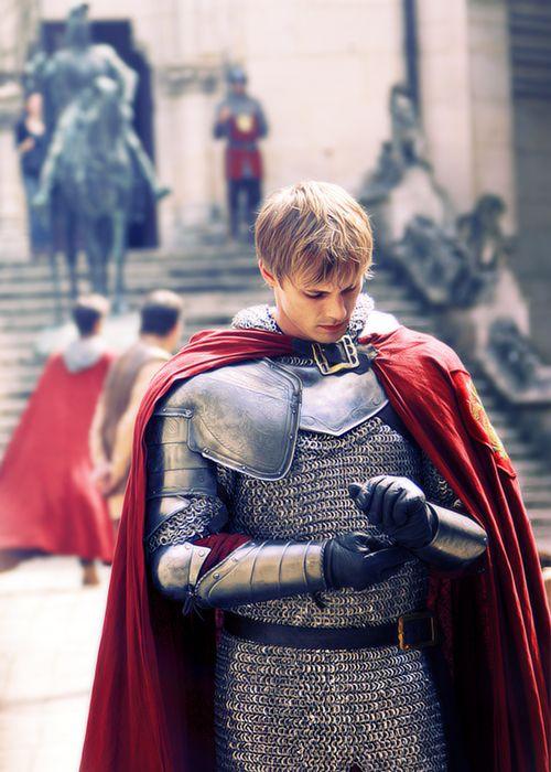 Bradley James as King Arthur on the BBC series Merlin