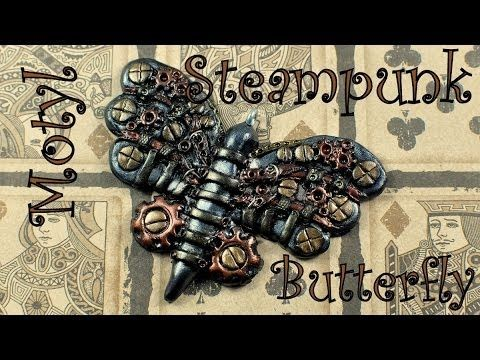 Steampunk charm: butterfly / motyl [TUTORIAL] - YouTube