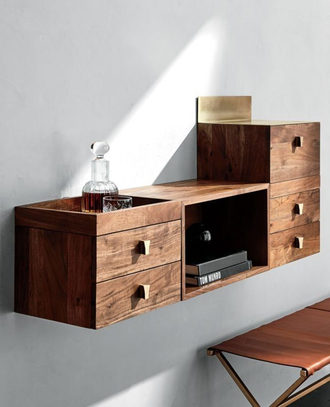 Up The Wall Warm Acacia Wood Fulfills A World Of Wall Storage Needs Wood Framed Fixed Tr Wall Mounted Cabinet Modern Storage Cabinet Modern Floating Shelves