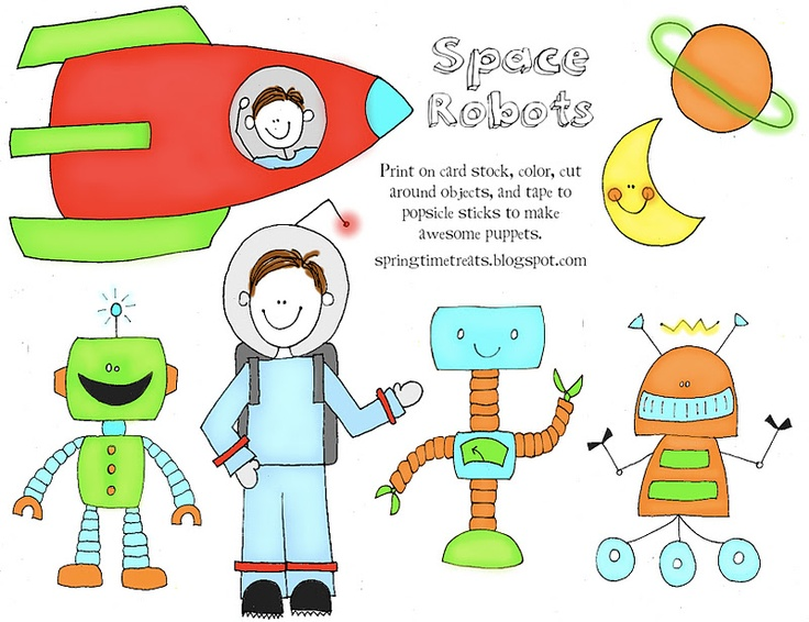 Spring Time Treats: Free Printables. great popsicle stick puppets