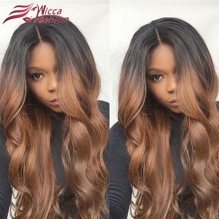 Ombre Body Wave Human Hair Full Lace Wigs Raw Indian Remy Hair Glueless Lace Front Wig Tow Tone Ombre Wigs For Black Women