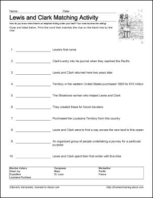 Lewis and Clark Worksheets and Coloring Pages  #lewisandclark #homeschool