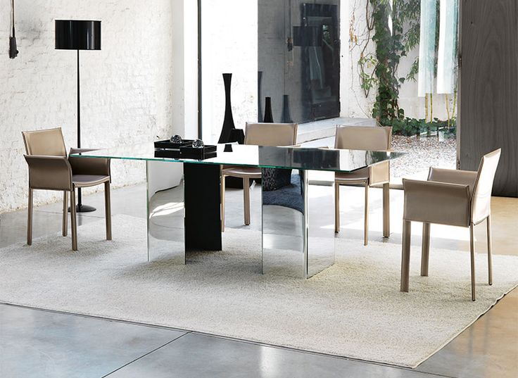 unico ghia glass dining table in various colours and sizes