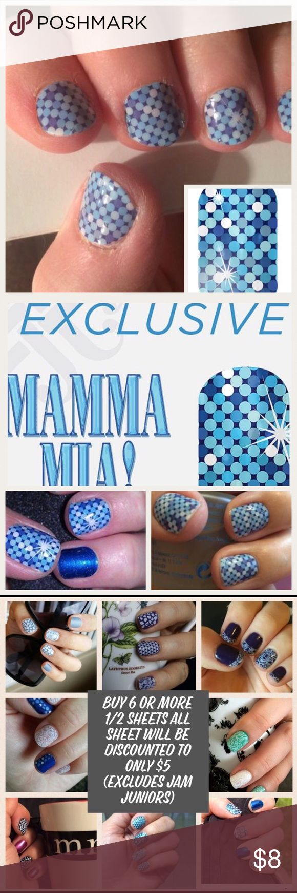new Jamberry Nails 1//2 Sheet ALL THAT GLITTERS