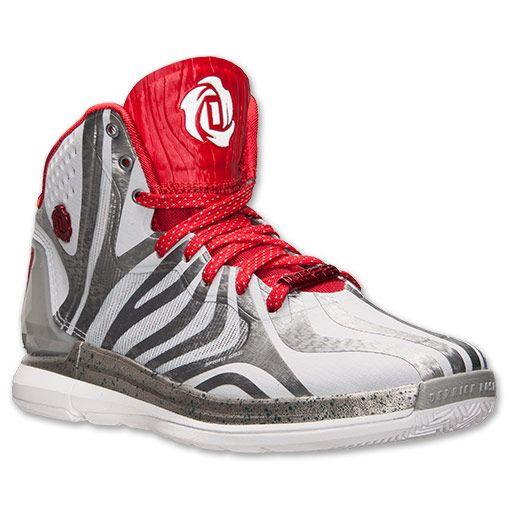 Men's adidas D Rose 4.5 Basketball Shoes | FinishLine.com | Grey/Red/